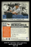 2008 SP Legendary Cuts Legendary Memorabilia 25 #CR2