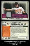 2008 SP Legendary Cuts Legendary Memorabilia 35 #CR