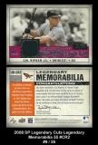2008 SP Legendary Cuts Legendary Memorabilia 35 #CR2