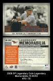 2008 SP Legendary Cuts Legendary Memorabilia 75 #CR2
