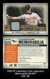 2008 SP Legendary Cuts Legendary Memorabilia 99 #CR Brown
