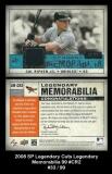 2008 SP Legendary Cuts Legendary Memorabilia 99 #CR2 Blue