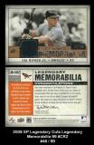 2008 SP Legendary Cuts Legendary Memorabilia 99 #CR2 Brown