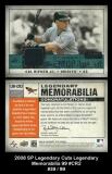 2008 SP Legendary Cuts Legendary Memorabilia 99 #CR2 Green