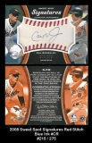 2008 Sweet Spot Signatures Red Stitch Blue Ink #CR