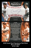 2008 Sweet Spot Signatures Red Stitch Blue Ink #CR3