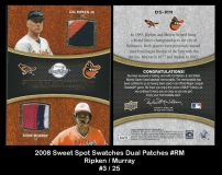 2008 Sweet Spot Swatches Dual Patches #RM