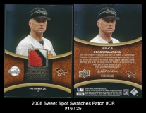 2008 Sweet Spot Swatches Patch #CR