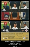 2008 Sweet Spot Swatches Triple Patches #TSRJ