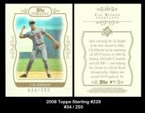 2008 Topps Sterling #229