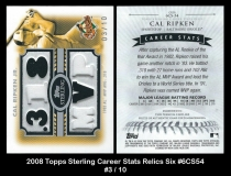 2008 Topps Sterling Career Stats Relics Six #6CS54