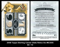 2008 Topps Sterling Career Stats Relics Six #6CS55