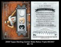 2008 Topps Sterling Career Stats Relics Triple #3SC57