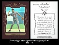 2008 Topps Sterling Framed Burgundy #229