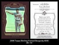 2008 Topps Sterling Framed Burgundy #230