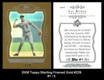 2008 Topps Sterling Framed Gold #229