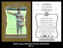 2008 Topps Sterling Framed Gold #230