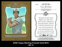2008 Topps Sterling Framed Gold #231