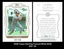 2008 Topps Sterling Framed White #228