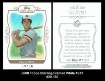 2008 Topps Sterling Framed White #231