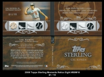2008 Topps Sterling Moments Relics Eight #8SM18