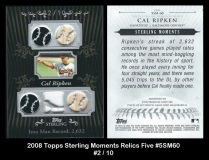 2008 Topps Sterling Moments Relics Five #5SM60
