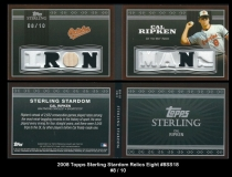 2008 Topps Sterling Stardom Relics Eight #8SS18