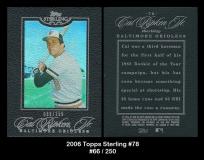 2006 Topps Sterling #78