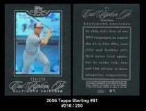 2006 Topps Sterling #81