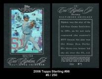 2006 Topps Sterling #86