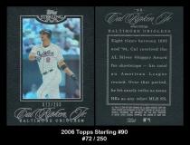2006 Topps Sterling #90