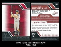 2008 Topps Triple Threads #240