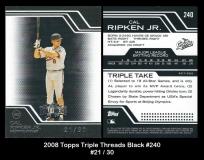 2008 Topps Triple Threads Black #240