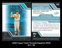 2008 Topps Triple Threads Sapphire #240