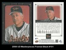 2008 UD Masterpieces Framed Black #101