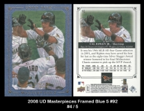 2008 UD Masterpieces Framed Blue 5 #92
