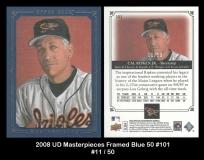 2008 UD Masterpieces Framed Blue 50 #101
