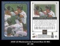2008 UD Masterpieces Framed Blue 50 #92