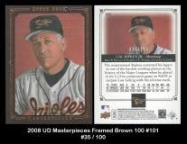 2008 UD Masterpieces Framed Brown 100 #101