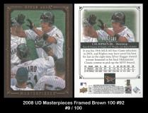 2008 UD Masterpieces Framed Brown 100 #92