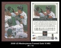 2008 UD Masterpieces Framed Gold 10 #92