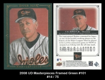 2008 UD Masterpieces Framed Green #101
