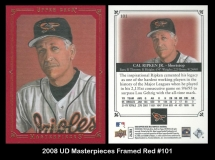 2008 UD Masterpieces Framed Red #101