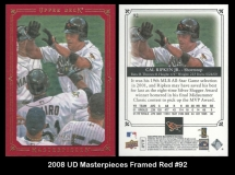 2008 UD Masterpieces Framed Red #92