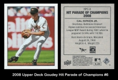 2008 Upper Deck Goudey Hit Parade of Champions #6