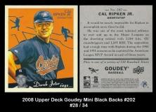 2008 Upper Deck Goudey Mini Black Backs #202