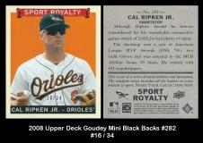 2008 Upper Deck Goudey Mini Black Backs #282