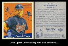 2008 Upper Deck Goudey Mini Blue Backs #202