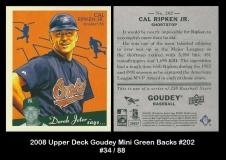 2008 Upper Deck Goudey Mini Green Backs #202