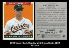 2008 Upper Deck Goudey Mini Green Backs #282